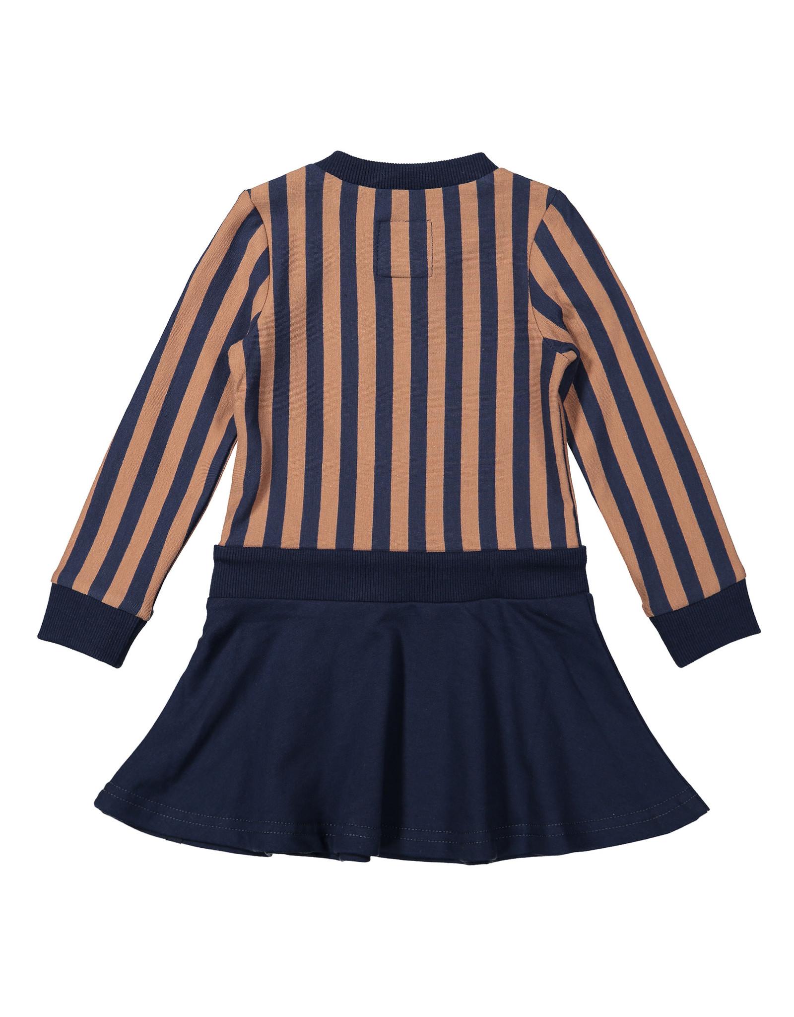 Koko Noko Koko Noko meisjes jurk Stripe Camel Navy