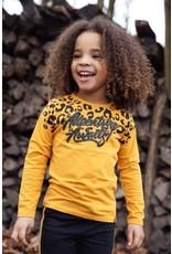 Koko Noko Koko Noko meisjes shirt panterprint Ochre