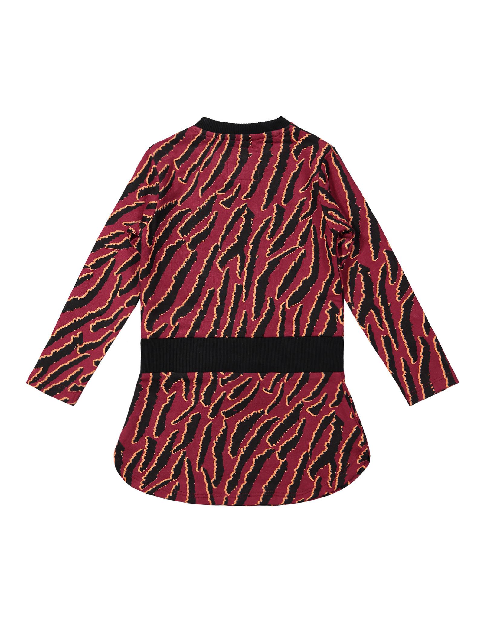 Koko Noko Koko Noko meisjes jurk met print Burgundy