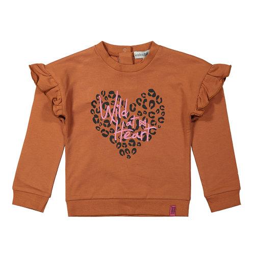Koko Noko Koko Noko meisjes sweater Wild Rusty Brown