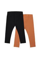 Koko Noko Koko Noko meisjes 2-pack legging Rusty Brown Black