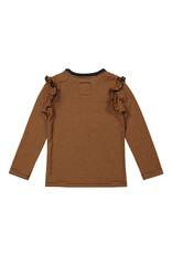 Koko Noko Koko Noko meisjes gestreept shirt Favorite Thing Rusty Brown