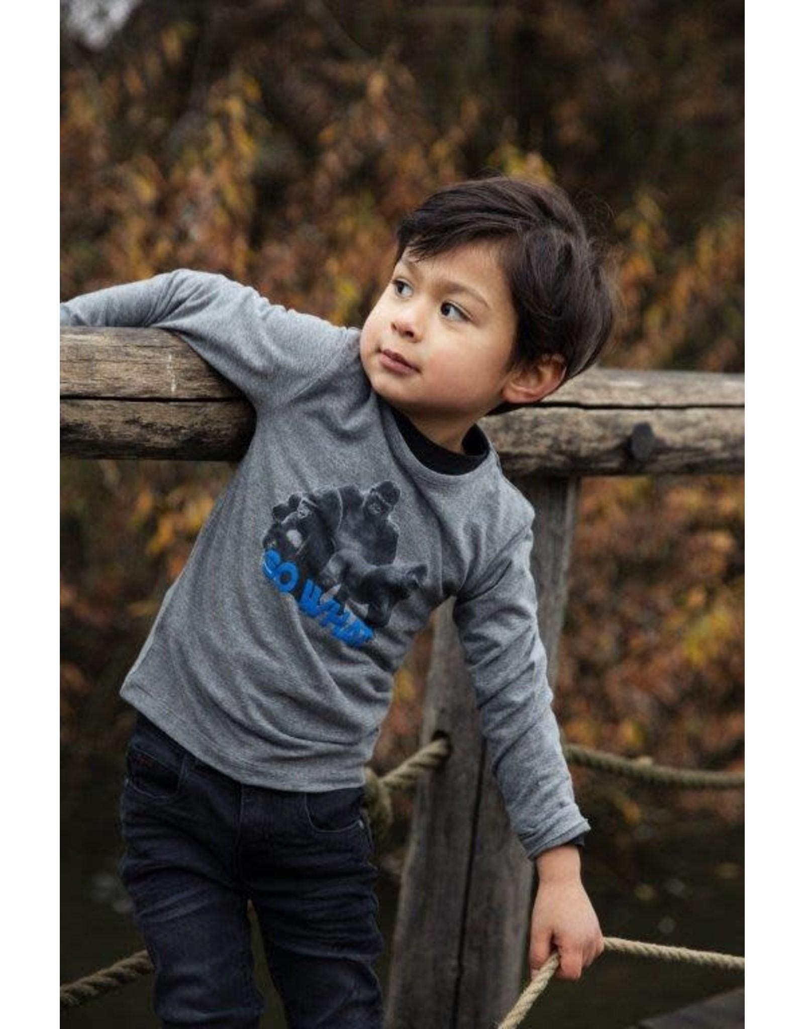 Koko Noko Koko Noko jongens shirt So What Grey Melee