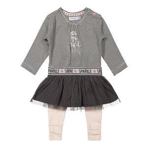 Dirkje Dirkje baby meisjes setje Shine and Sparkle Grey Soft Pink
