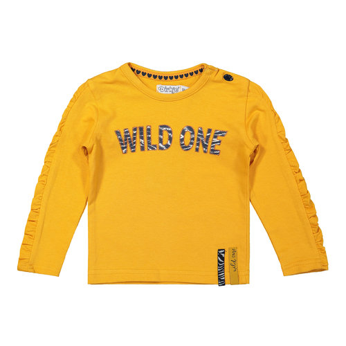 Dirkje Dirkje baby meisjes shirt Wild One Warm Yellow