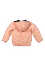 Dirkje Dirkje baby meisjes winterjas met zebraprint voering Ash Pink