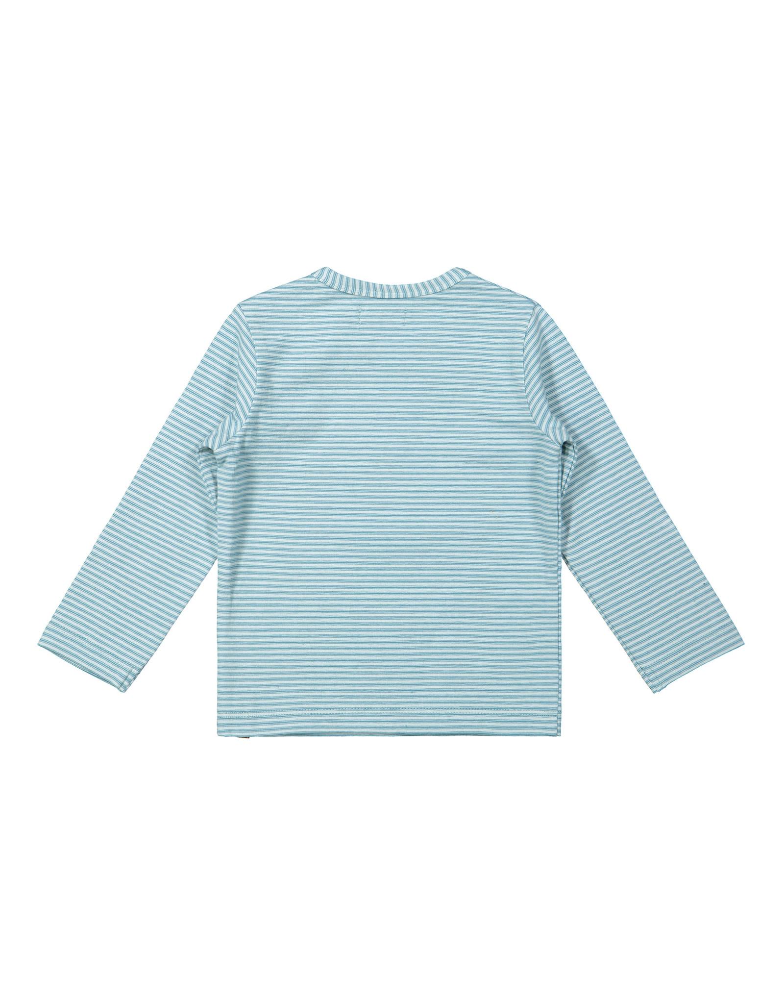 Dirkje Dirkje baby jongens gestreept shirt Explore Light Blue