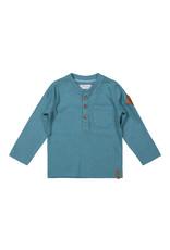 Dirkje Dirkje baby jongens shirt met knoopjes Dusty Blue