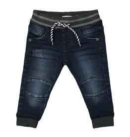 Dirkje Dirkje baby jongens jeans met elastieke band Blue