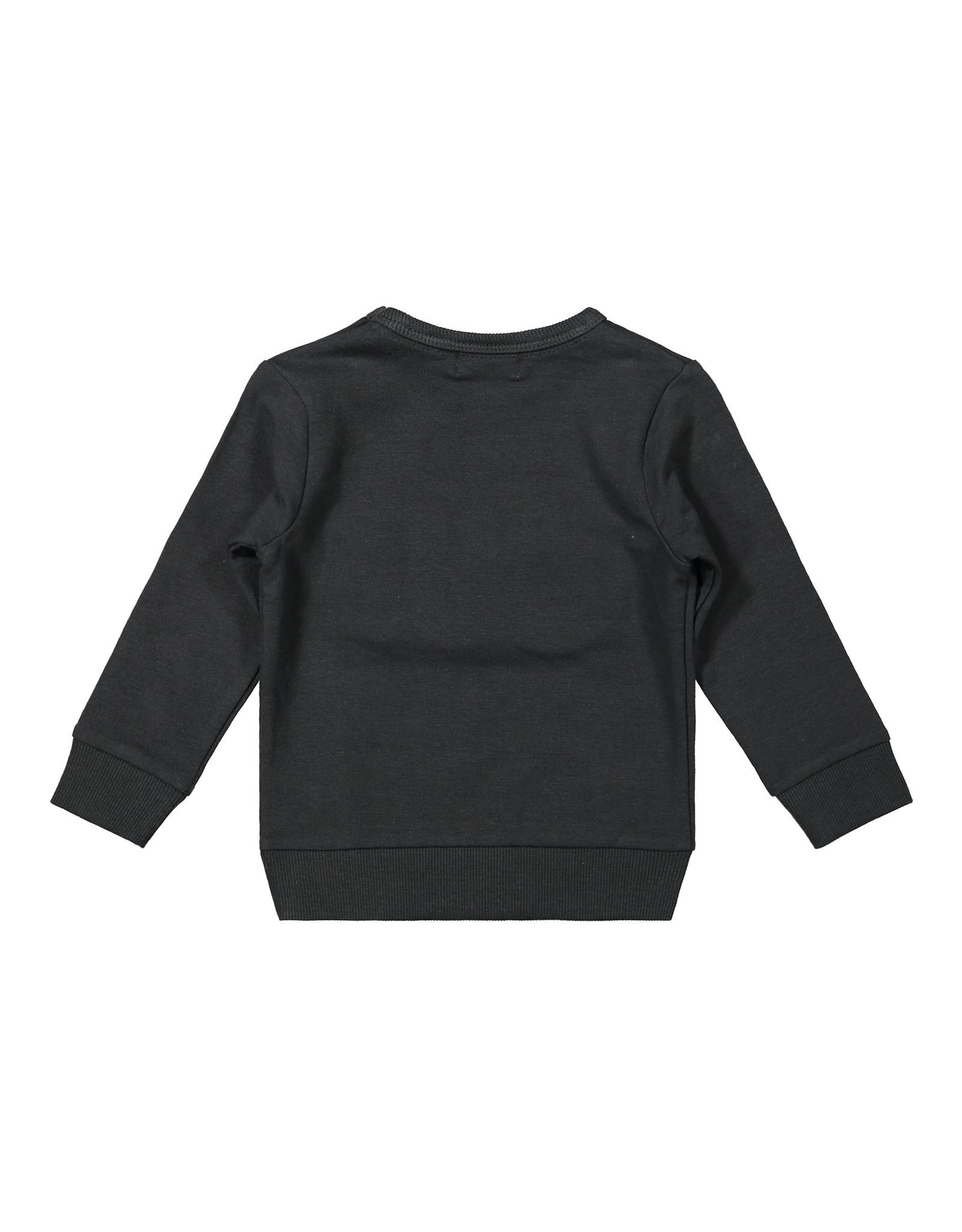 Dirkje Dirkje baby jongens sweater Get Out and Explore Anthracite