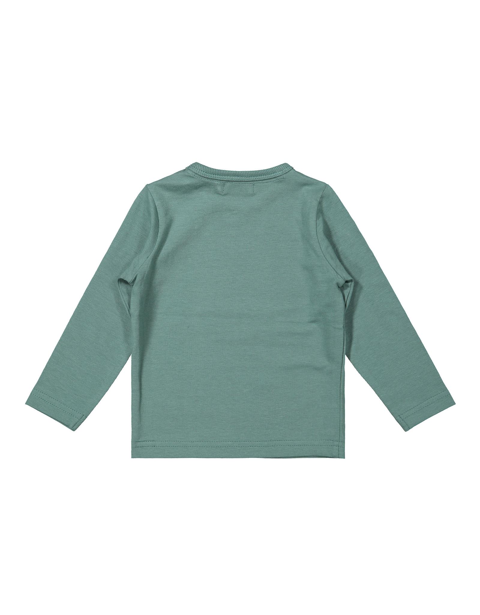 Dirkje Dirkje baby jongens shirt Get Out Sage