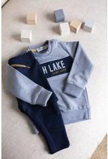 Dirkje Dirkje baby jongens sweater North Lake Grey