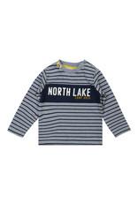 Dirkje Dirkje baby jongens gestreept shirt North Lake Jeans Blue Navy