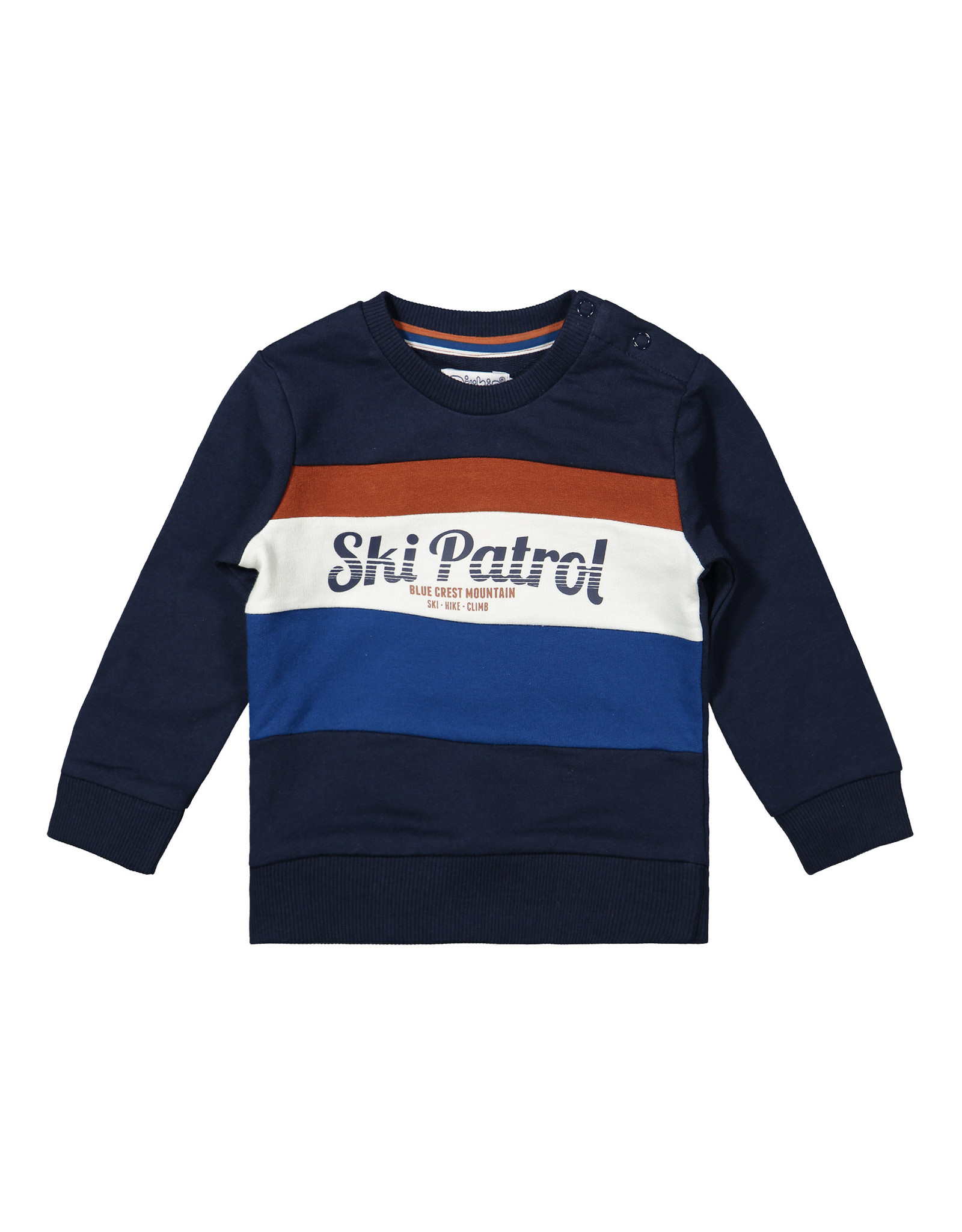 Dirkje Dirkje baby jongens sweater Ski Patrol Color Block Navy