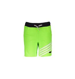 B.Nosy B.Nosy jongens korte joggingbroek met strepen aan 1 kant Gecko Green