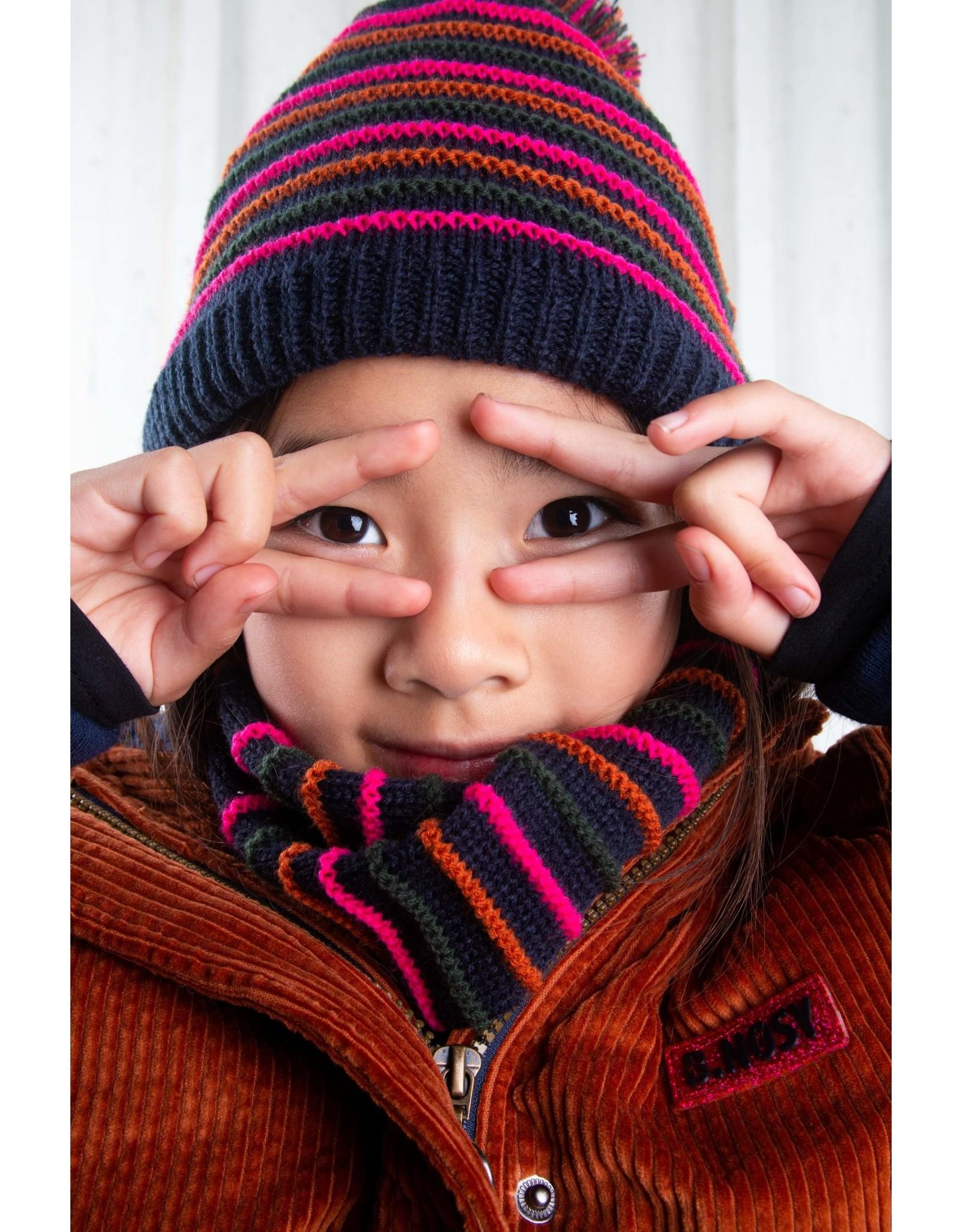 B.Nosy B.Nosy meisjes winterset muts, sjaal en handschoenen Space Blue