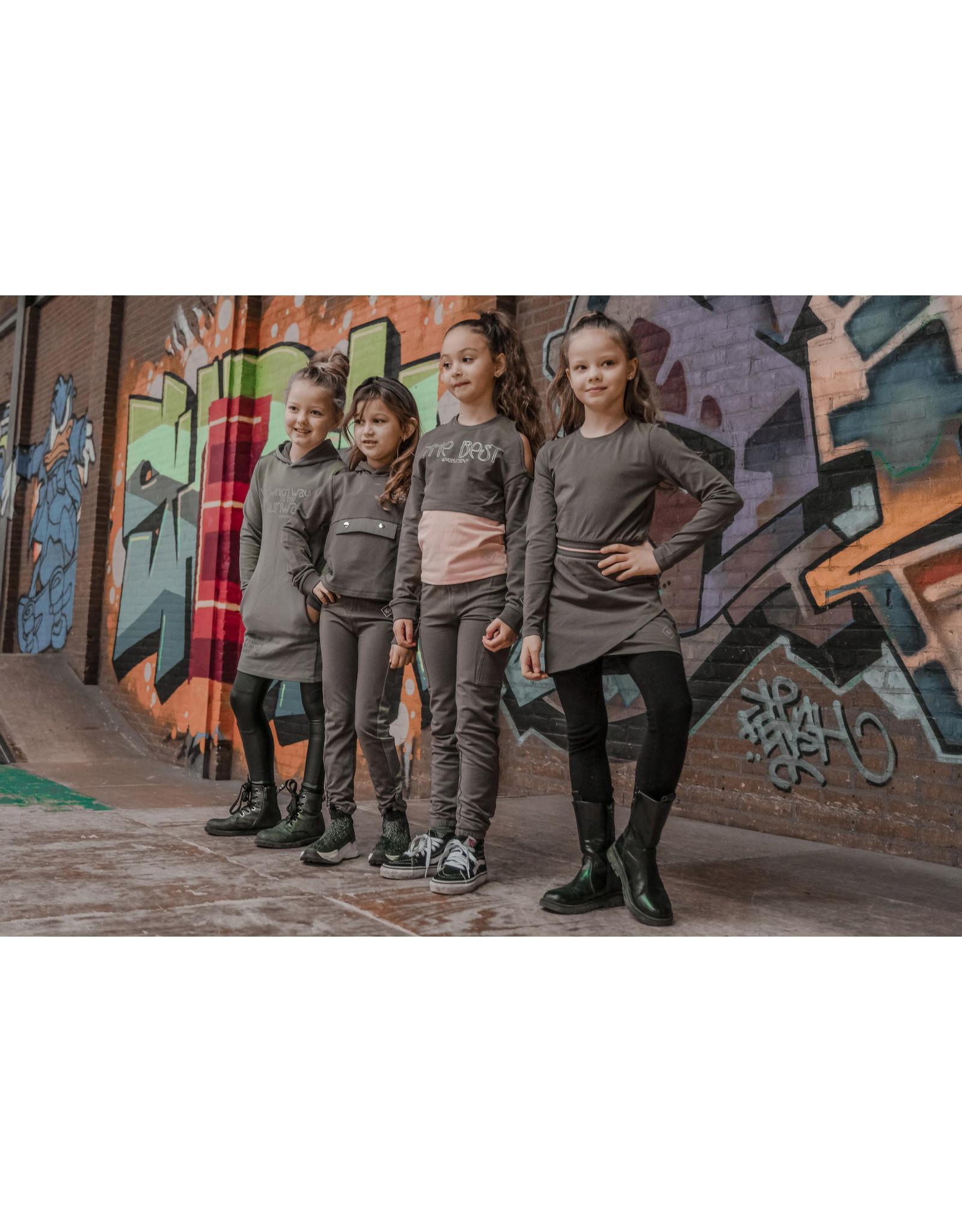 4President 4President meisjes joggingbroek Octavia Dark Army