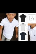 LEVV Levv jongens polo t-shirt Jasper White