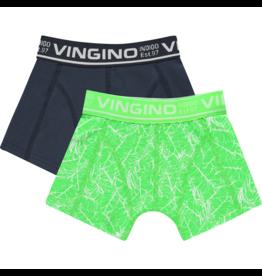 Vingino Vingino jongens ondergoed 2-pack boxers Leafs Neon Green