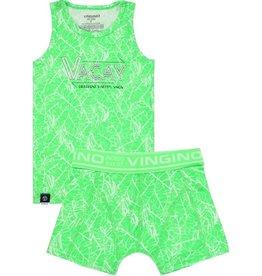Vingino Vingino jongens ondergoed set Leafs Neon Green