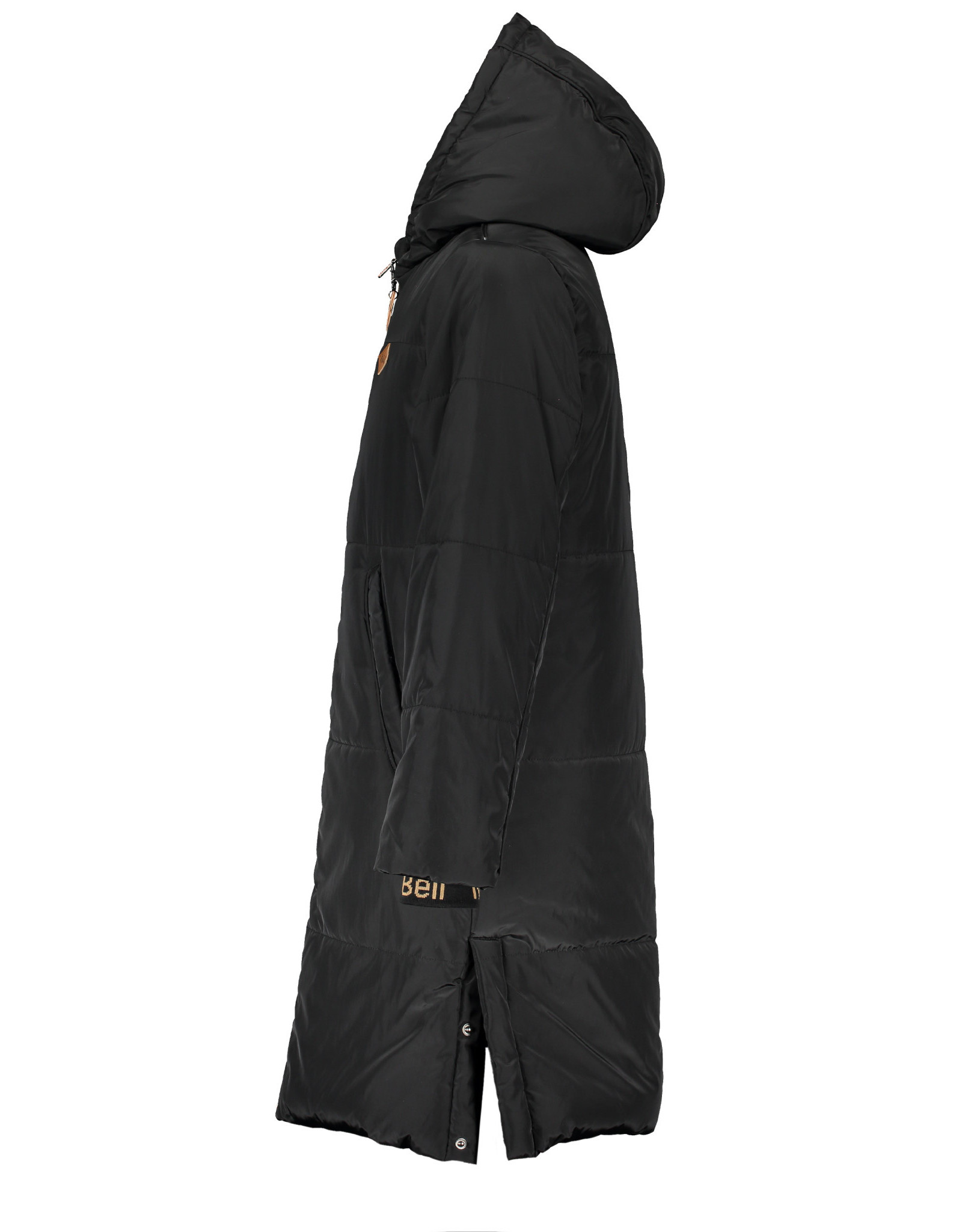 NoBell NoBell meiden long winterjas Baggy Jet Black