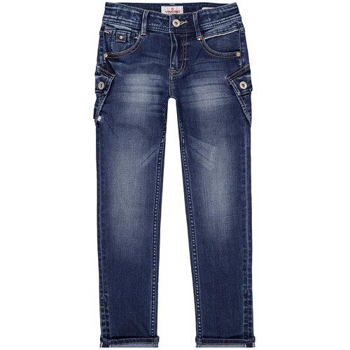 Vingino Vingino jongens slim fit jeans Duca Cruziale Blue