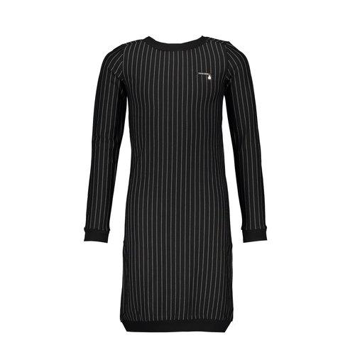 Elle Chic Elle Chic meiden jurk  streep Black