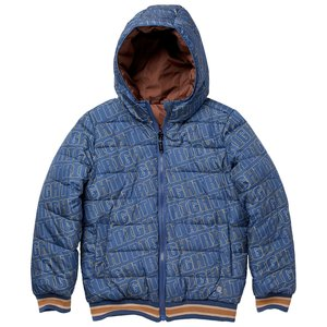 Quapi Quapi jongens reversible winterjas Kiram aop Blue Force Chestnut