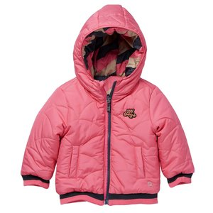 Quapi Quapi baby meisjes reversible winterjas Laure Sand Stripe Pink Candy
