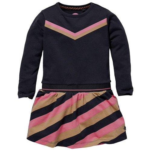 Quapi Quapi baby meisjes jurk Lauren Sand Stripe