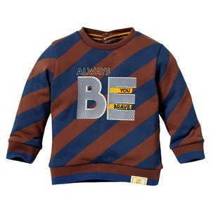 Quapi Quapi baby jongens sweater Leo Chestnut Diagonal Stripe
