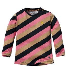 Quapi Quapi baby meisjes shirt Lexie Sand Stripe