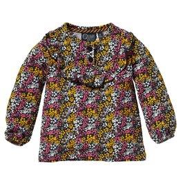 Quapi Quapi baby meisjes shirt Lianne Grey Midnight Flower
