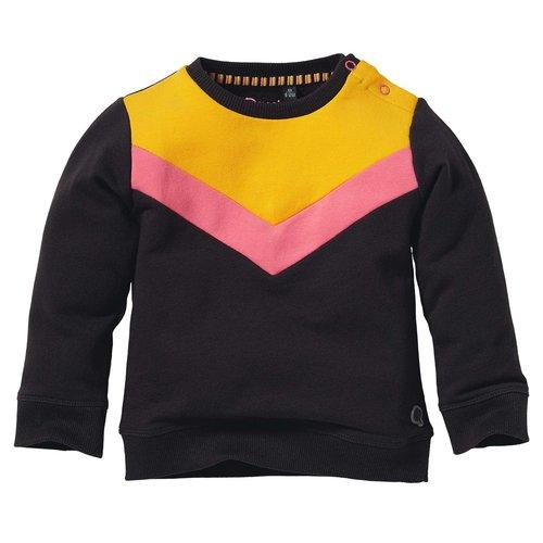 Quapi Quapi baby meisjes sweater Liene Grey Midnight