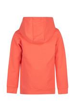 Daily7 Daily7 jongens hoodie met kangaroo pocket Coral Red
