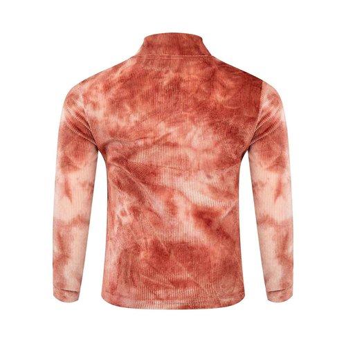 Daily7 Daily7 meisjes shirt met coll Tie Dye Barn Bordeaux