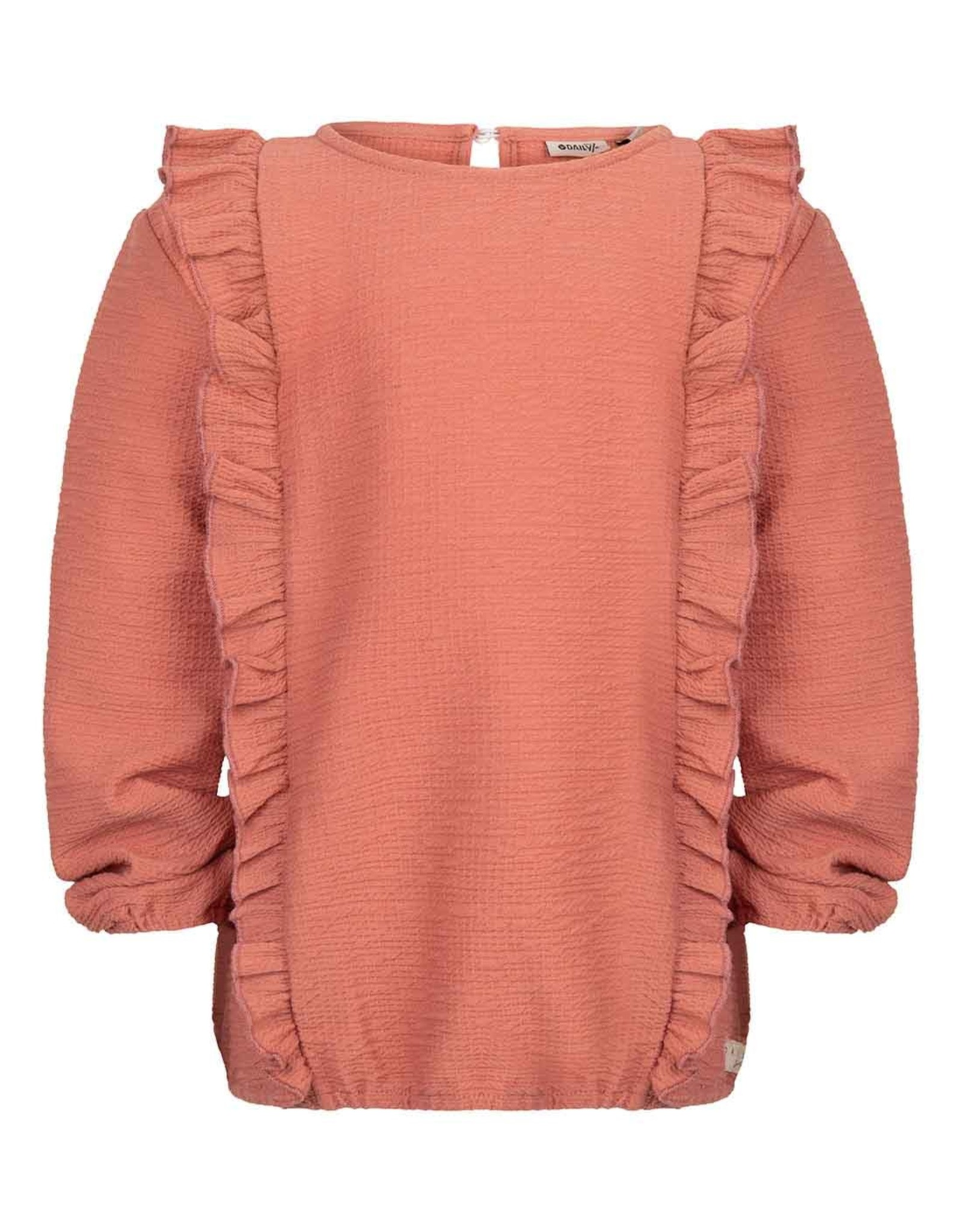 Daily7 Daily7 meisjes sweater met Roesels Brick Dust