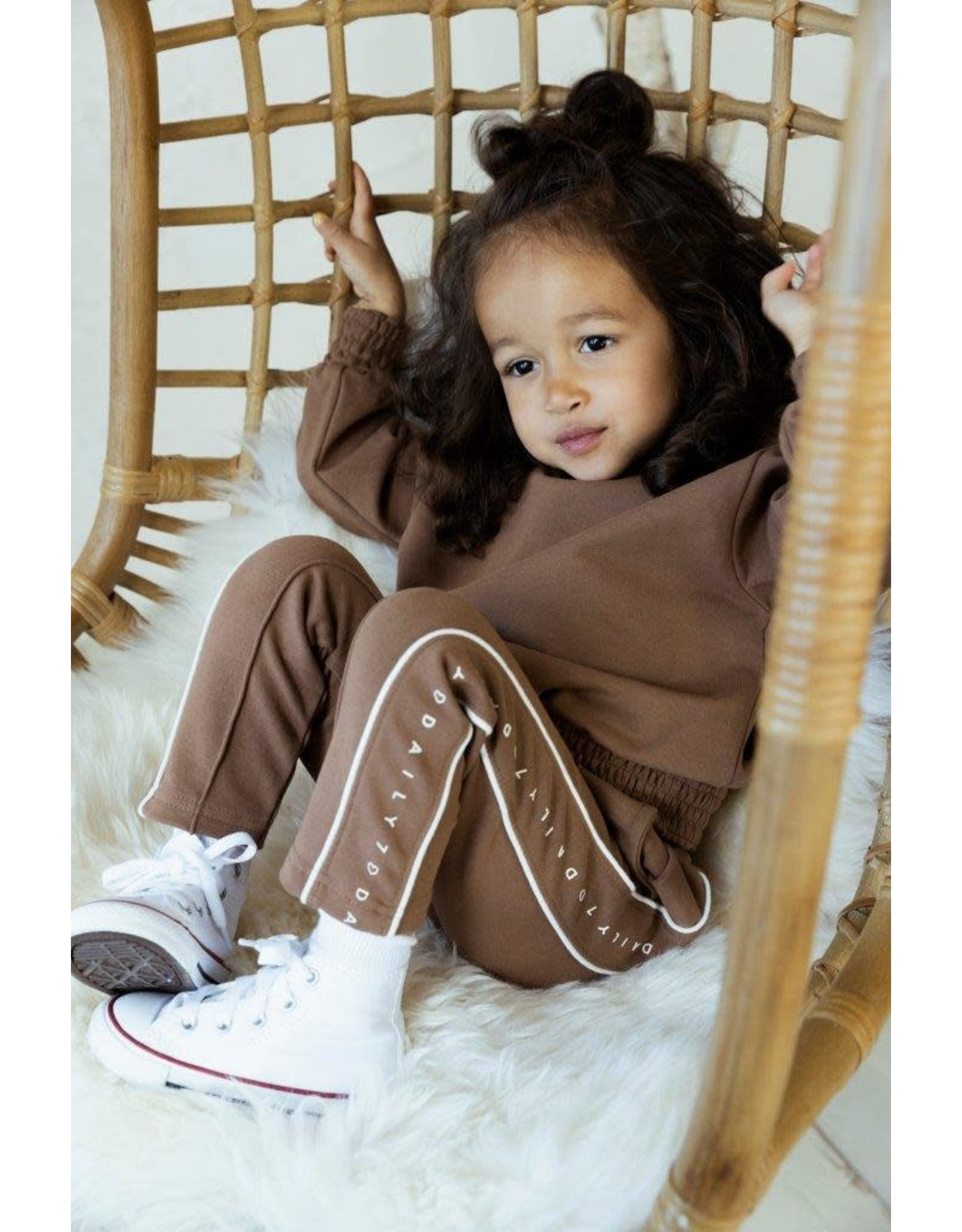 Daily7 Daily7 meisjes oversized sweater Brown Sugar
