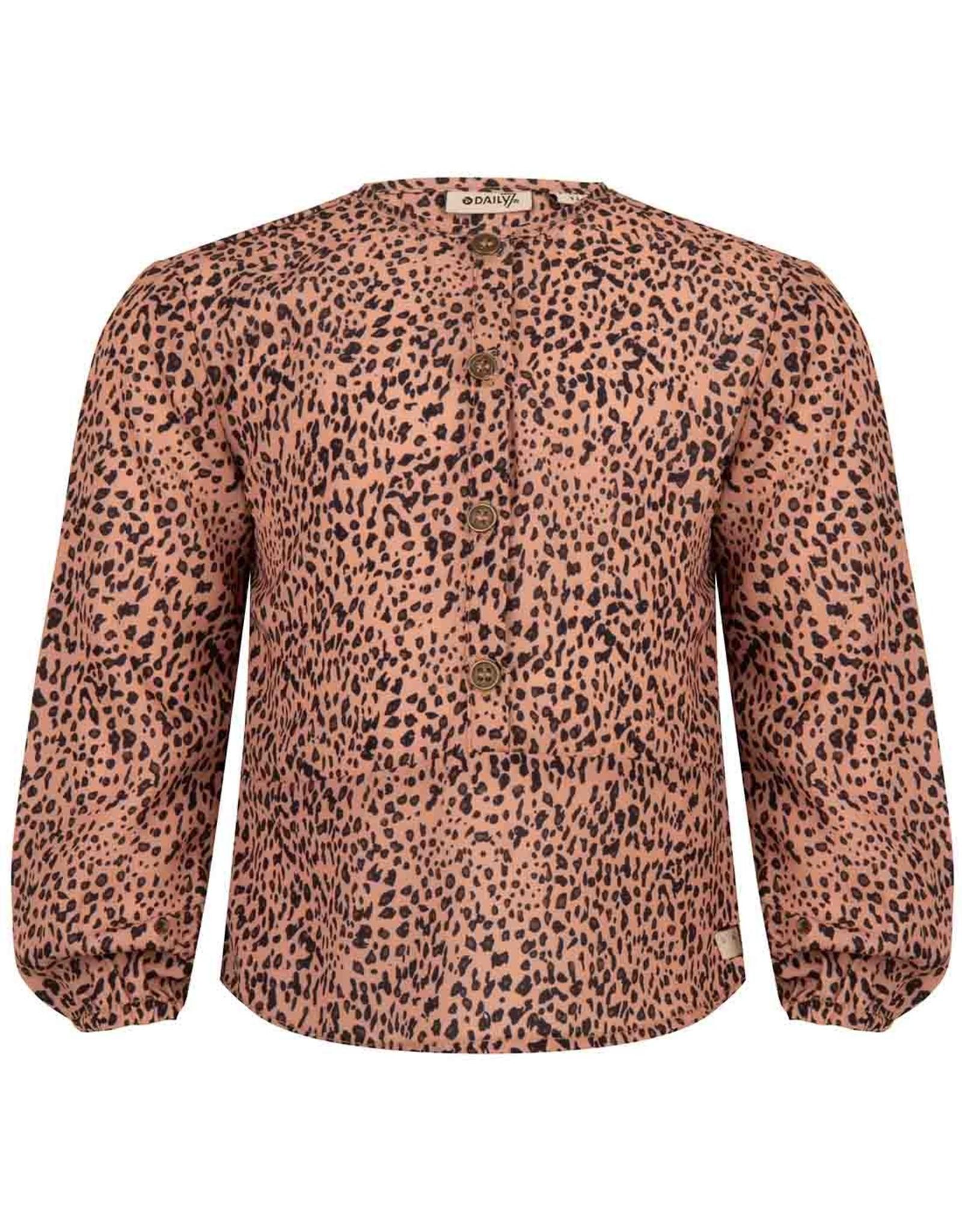Daily7 Daily7 meisjes blouses Panter Brick Dust