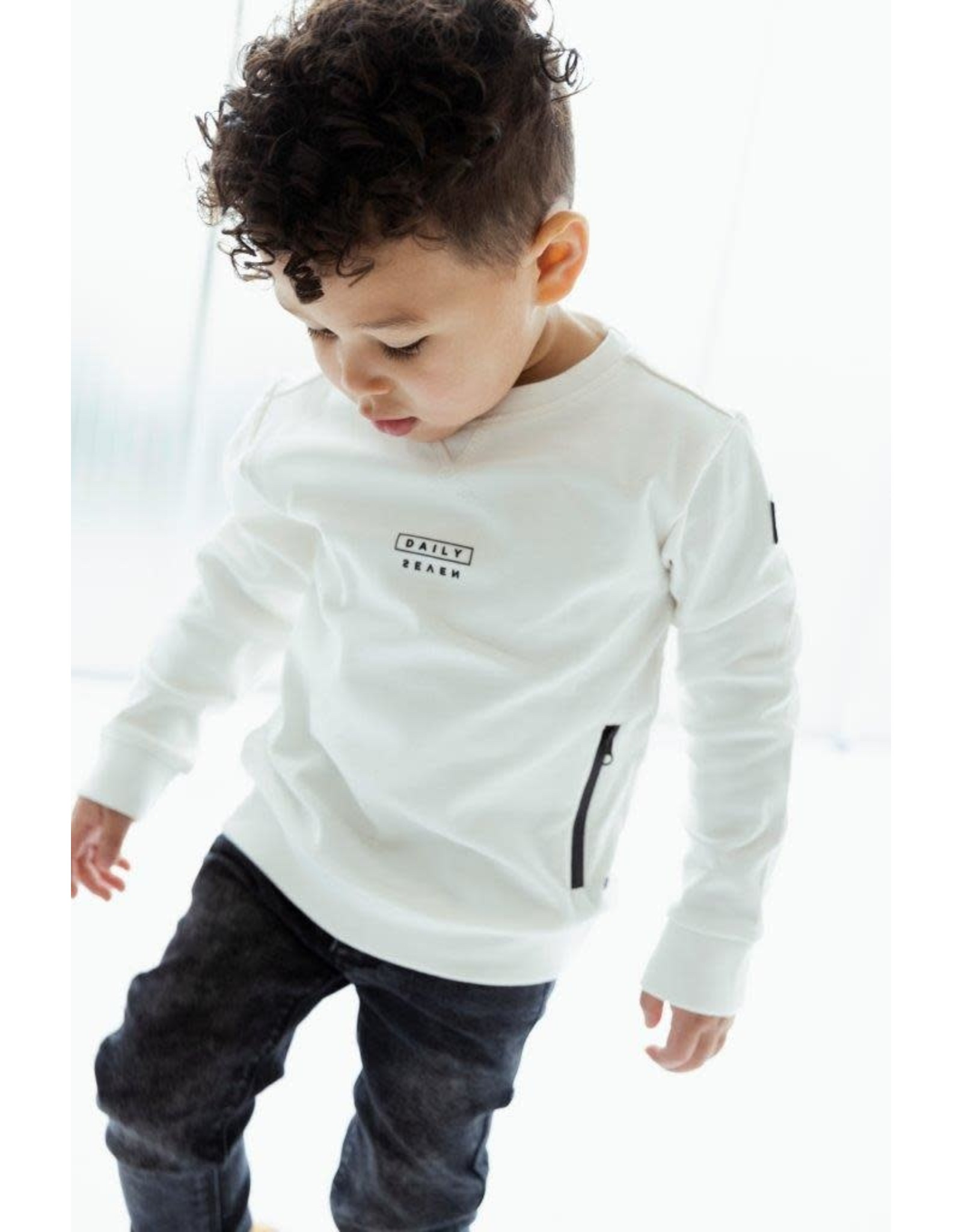 Daily7 Daily7 jongens sweater met rits Off White