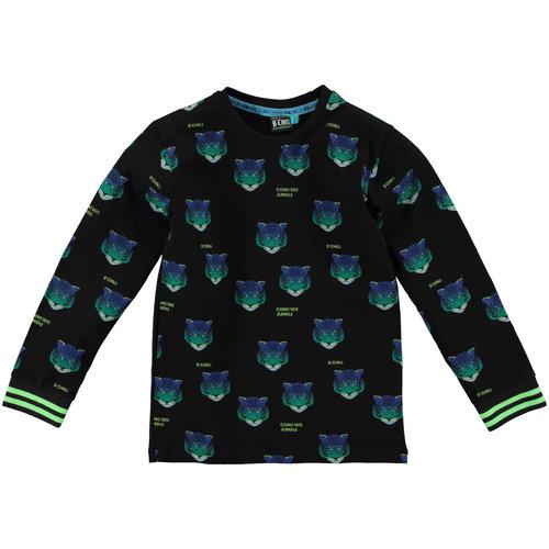 B'Chill B'Chill jongens shirt Santiago Black