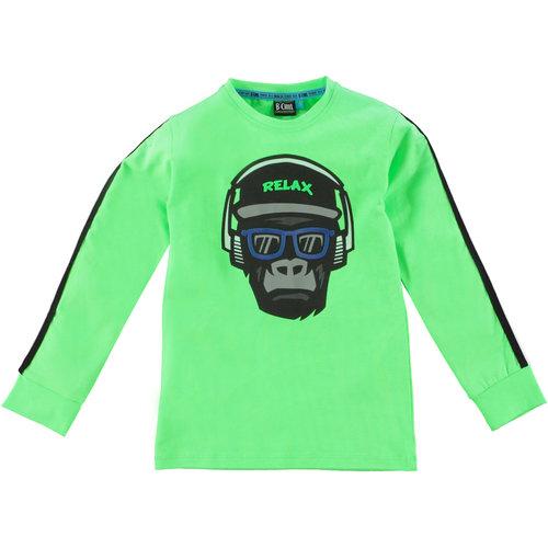 B'Chill B'Chill jongens shirt Victor Neon Green