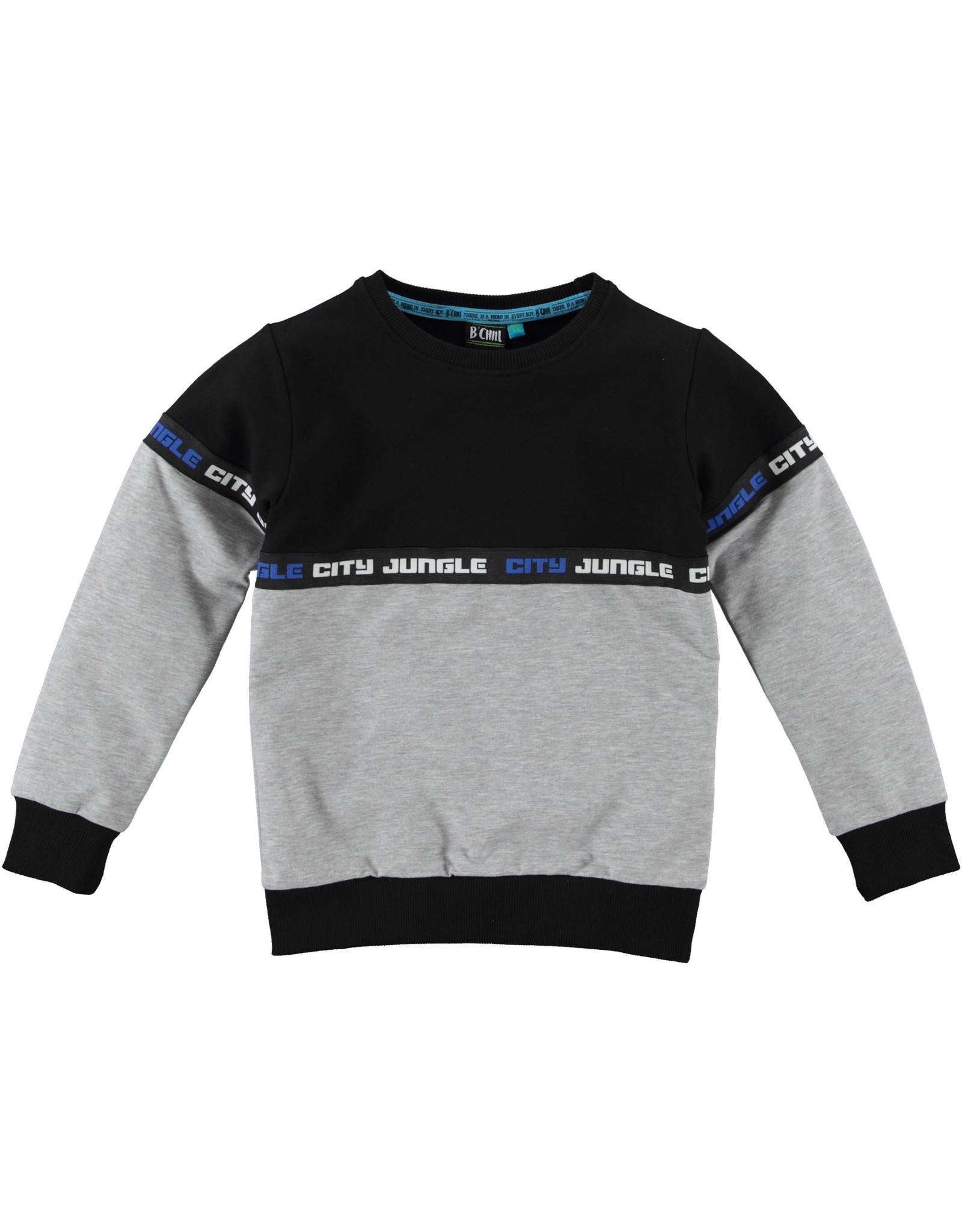B'Chill B'Chill jongens sweater Zyan Grey Melee