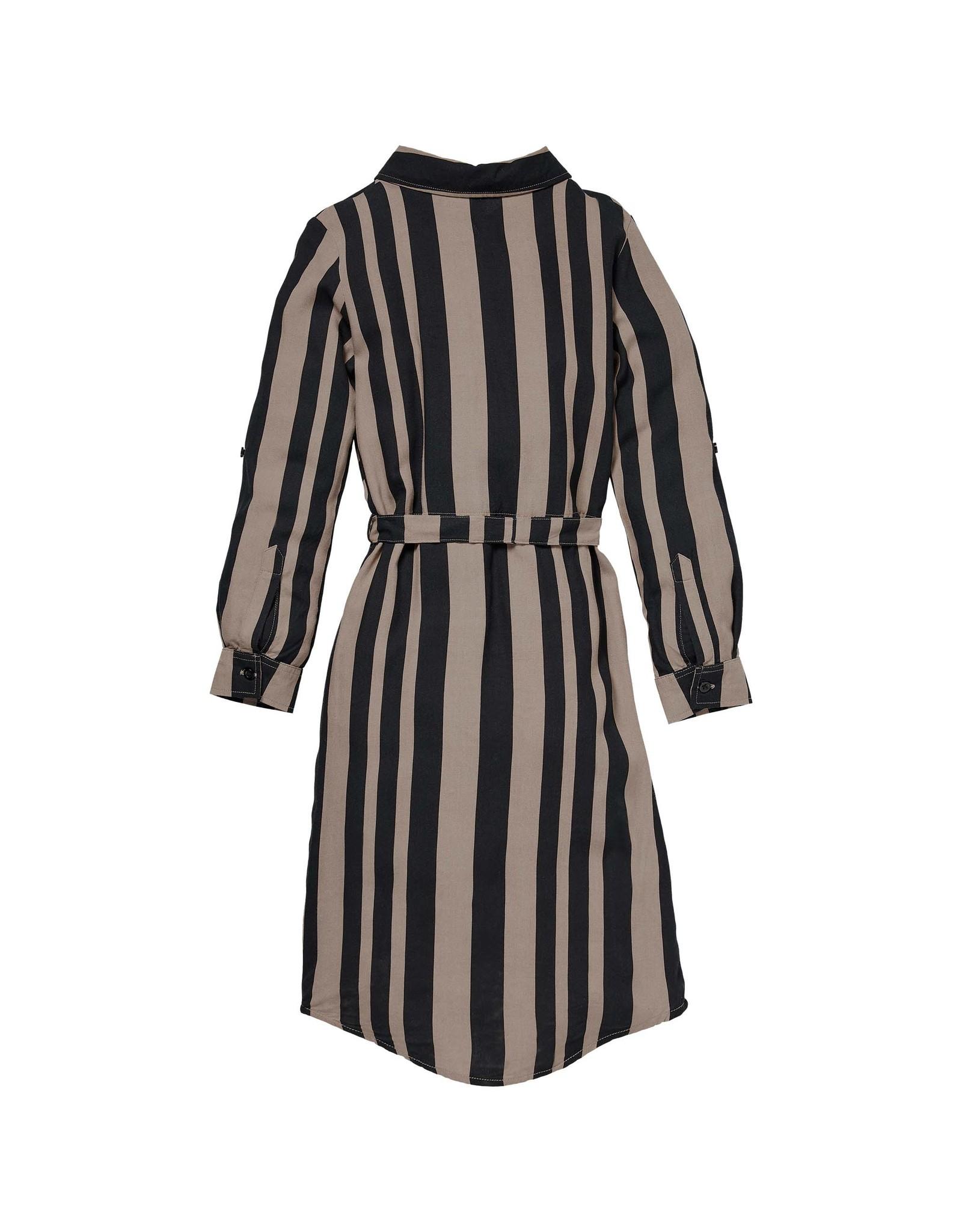 LEVV Levv meiden lange jurk Renske aop Black Stripe