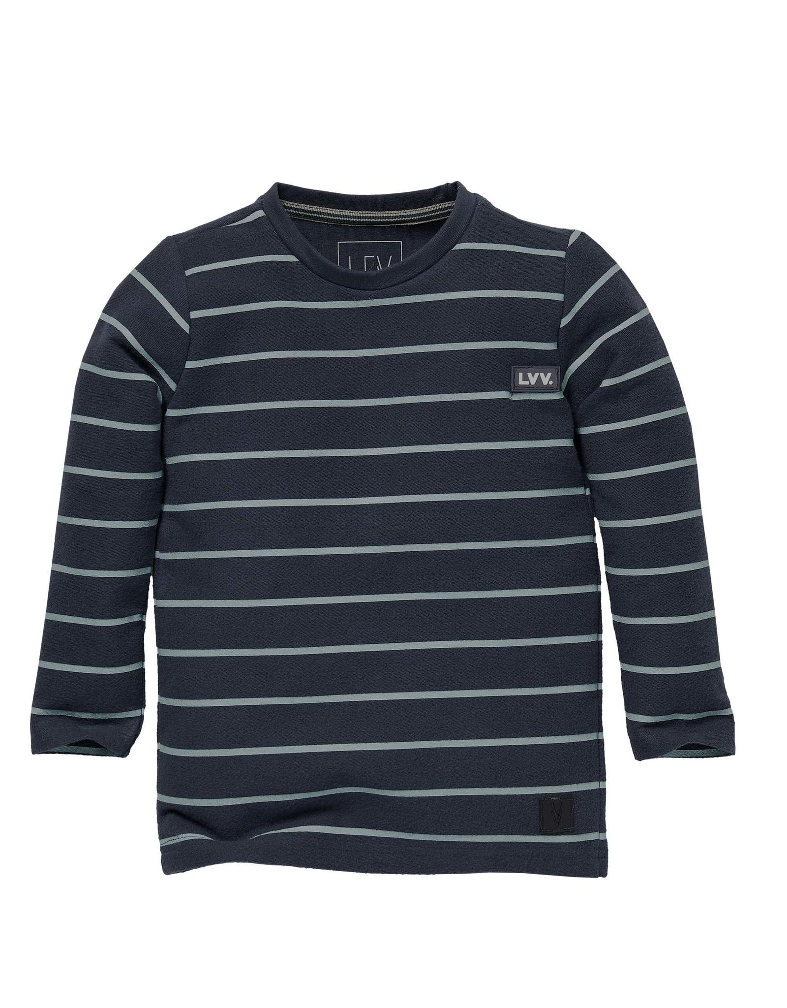 LEVV Levv jongens shirt Scott aop Grey Stone Stripe