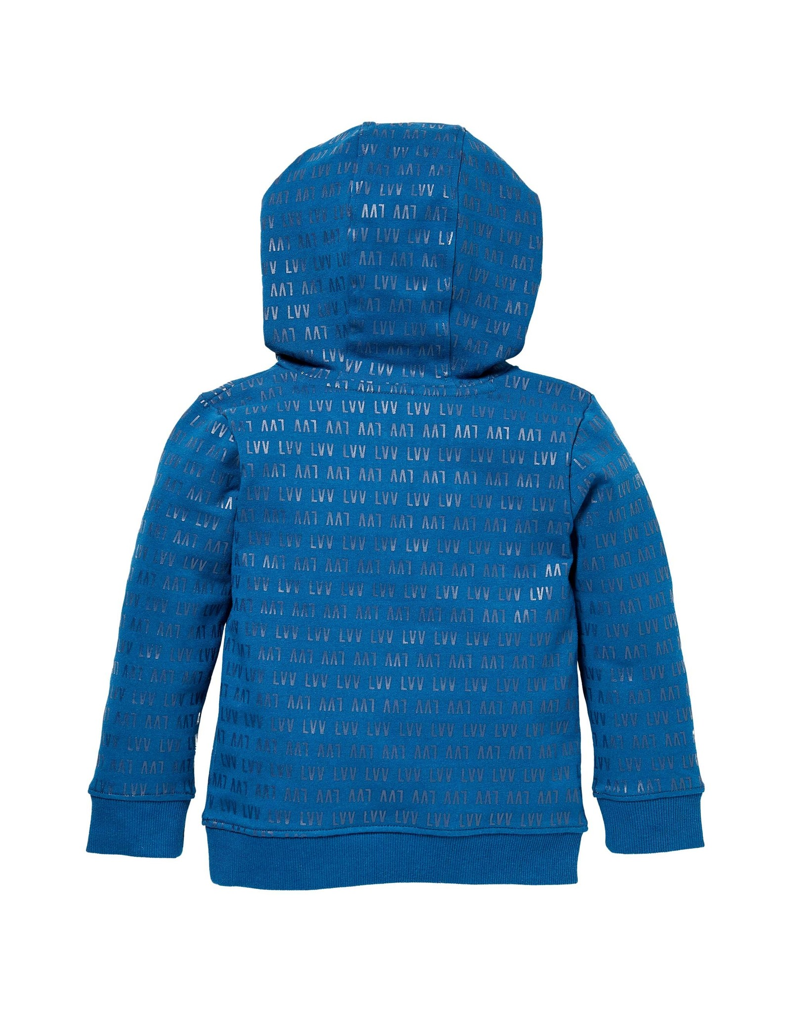LEVV Levv jongens hoodie Sidney aop Blue Sea LVV
