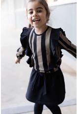 LEVV Levv meisjes shirt Senna aop Black Stripe