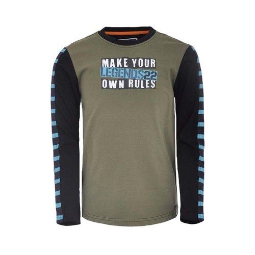 Legends Legends jongens shirt Gijs Olive Green