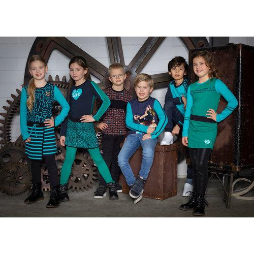 Legends Legends jongens shirt Noud Blue Tile
