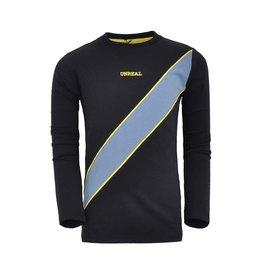 Unreal Unreal jongens shirt Diagonal Stripe Black